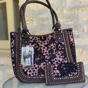 Montana west lace conceal carry handbag&wallet